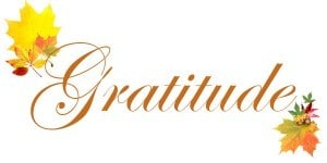 Offering gratitude on Thanksgiving