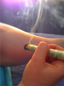moxibustion used in Chinese medicine